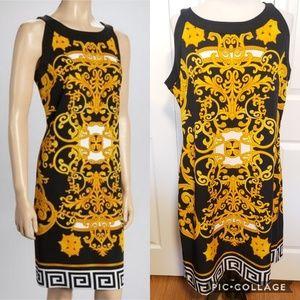 Voir Voir Black & Gold Shift Dress